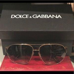 Dolce & Gabbana aviator glasses with gold frame